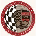 """Autocollant badge """"Club911.net"""" extérieur"""