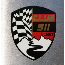 "Autocollant ""logo du club911.net"""