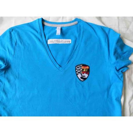 T-shirt femme manches courtes col V