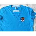 T-shirt femme col V manches courtes